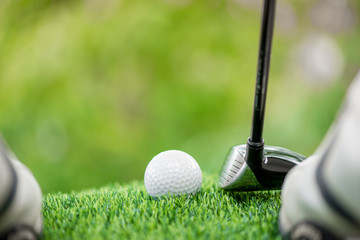 strike the golf ball