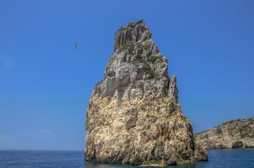 Ortholithos Rock, Paxos, Ionian Sea, Greece