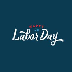 Happy Labor Day Text Vector