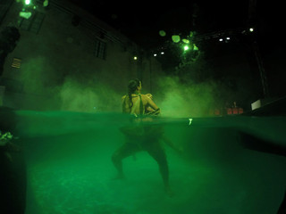 """Actors take part in the dress rehearsal of an adaption of Roman poet Ovid's """"Metamorphoses"""" during the Malta International Arts Festival at Fort St Elmo in Valletta"""
