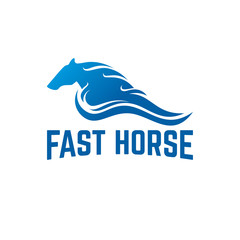 Fast Horse logo designs template vector illustration, Running Horse Logo template designs