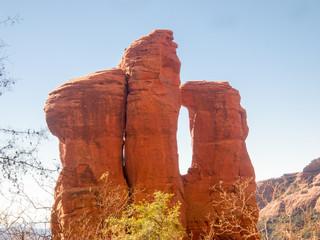 Hiking Sedona's red rocks, Arizona