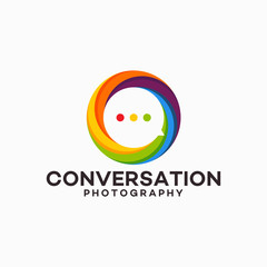 Photography Conversation Logo template designs vector illustration
