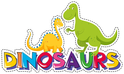 Sticker design for dinosaurs