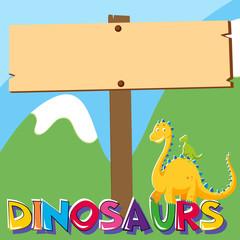 Wooden board with dinosaur under