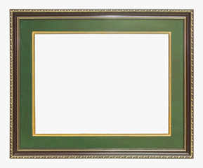 green wooden frame