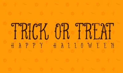 Halloween trick or treat card