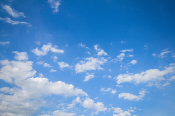 Panorama shot of blue sky and clouds in good weather days