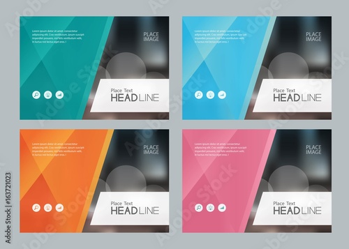 set template design for social media and web banners background