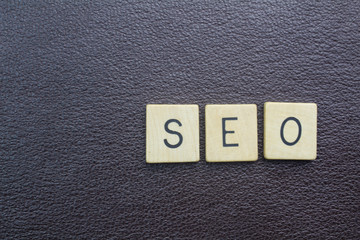 SEO short word concept for search enigne optimization for web page background