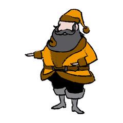 santa claus christmas wearing clothes traditional