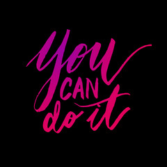 You can do it quote calligraphy