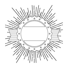Seal stamp decorative icon vector illustration graphic design