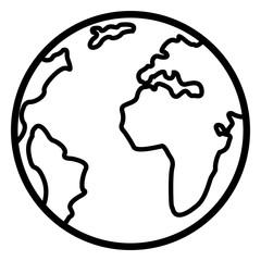 Vector Single Basic Icon - Globe