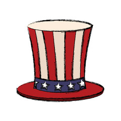 top hat with flag american color