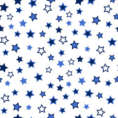 Star seamless background. Abstract pattern for card, wallpaper, album, scrapbook, holiday wrapping paper, textile fabric, garment, t-shirt design etc.