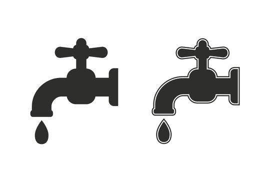 Faucet vector icon.