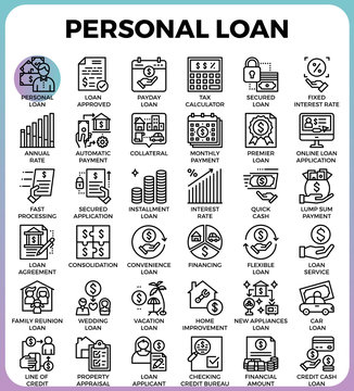 Personal loan icons