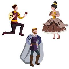 King, a prince, and a princess