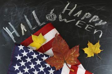 US autumn holidays chalk board