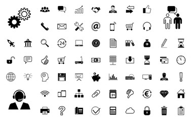 Business BIG Iconset - Schwarz