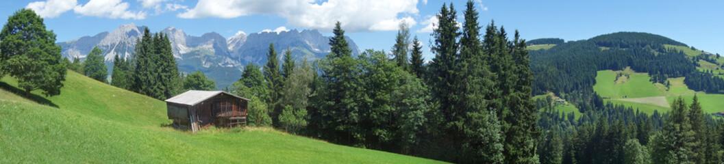 Panorama mit Wilder Kaiser in Tirol Wall mural