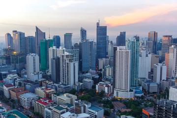 makati city skyline view