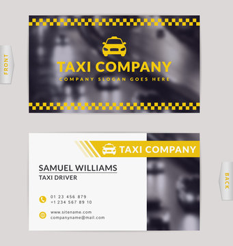 Business card for taxi company.