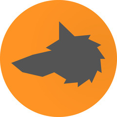 Head Wolf sign - vector illustration