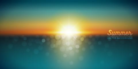 Coucher de soleil vectoriel 1