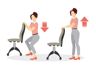 Sport exercises for office.