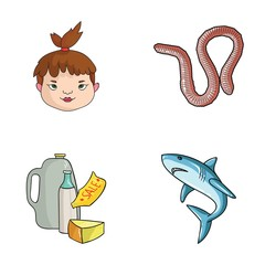 history, food and other web icon in cartoon style.fishing, sea icons in set collection.