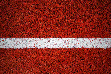 White line on a surface of running track (texture, background, vignette,)