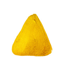 Yellow gold paint triangle. Vector design element