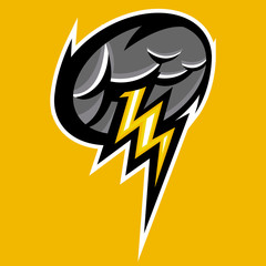 thunder and cloud team sport or gaming logo