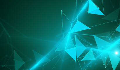 Turquoise polygonal background
