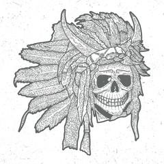 Indian Skull Mask Poster