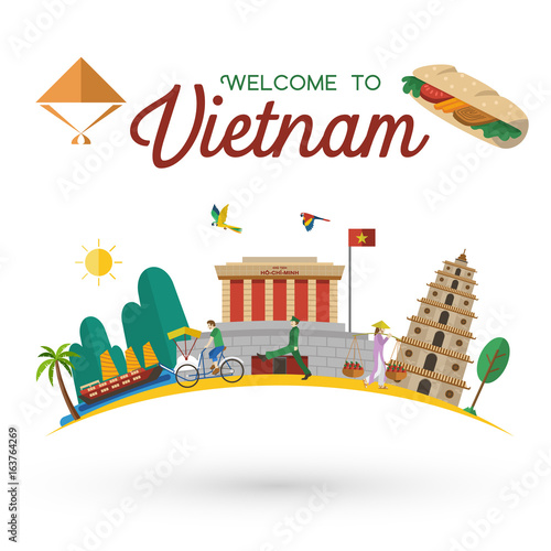 quot flat design  welcome to vietnam icons and landmarks  vector quot  stock image and royalty free folder clipart for school folder clip art template