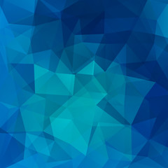 Background of geometric shapes. Blue mosaic pattern. Vector EPS 10. Vector illustration
