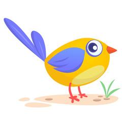 Cute cartoon bird. Vector illustration