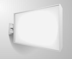 rectangular white signage