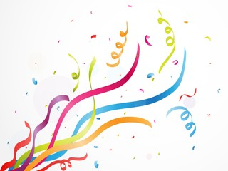 Colorful party confetti on white background