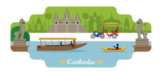 Cambodia Travel and Attraction Landmarks