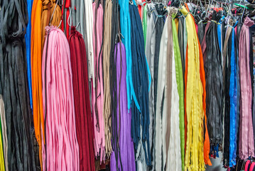 Colorful laces for shoes, sold in the market