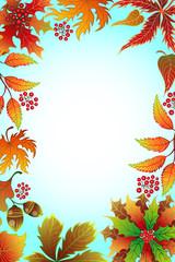 Frame with autumn foliage.