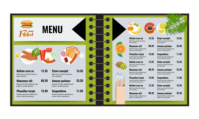 Restaurant or cafe menu vector design template trendy style vector