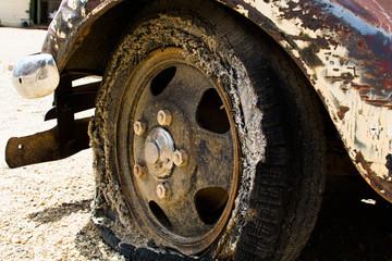Flat Vintage Tire