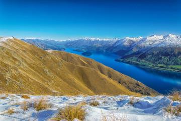 Lake Wanaka, view from Isthmus peak, Otago, New Zealand