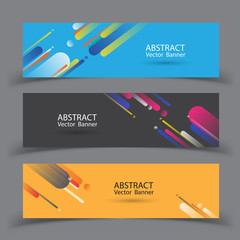 Abstract banner design. Vector illustration.