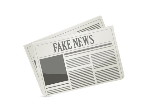 fake news newspaper illustration design icon